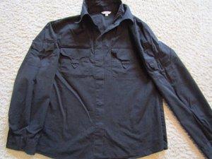 Camicetta a maniche lunghe nero Tessuto misto