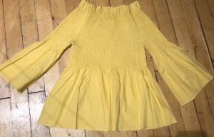 QED London Off-The-Shoulder Top yellow-primrose
