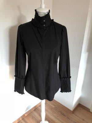 Zara Blusa de cuello alto negro