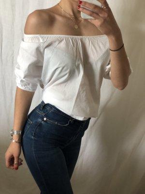 Blouse Carmen blanc