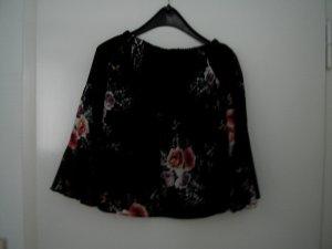 Carmen blouse zwart-rood Acryl