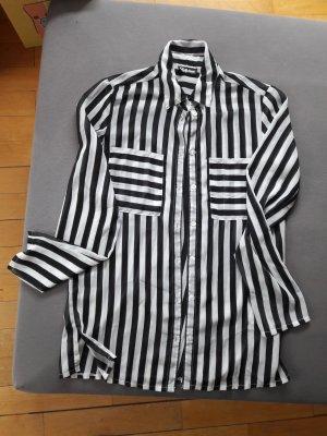 Chillytime Blusa larga blanco-negro