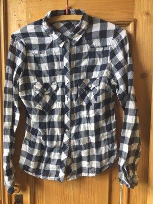 Tally Weijl Geruite blouse zwart-wit Katoen