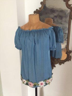 Carmen blouse veelkleurig