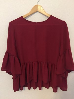 Vero Moda Oversized blouse framboosrood-baksteenrood