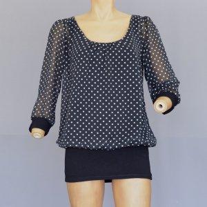 Anna Field Slip-over blouse zwart-wit
