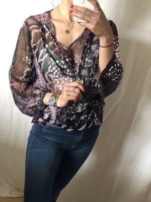 Bonita Blusa transparente multicolor