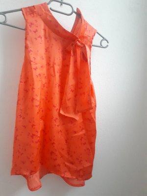 Ann Christine Mouwloze blouse oranje