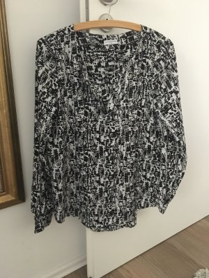 Jaqueline de Yong Long Sleeve Blouse black-white