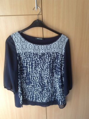 Betty Barclay Blusa de manga larga azul oscuro-blanco Viscosa