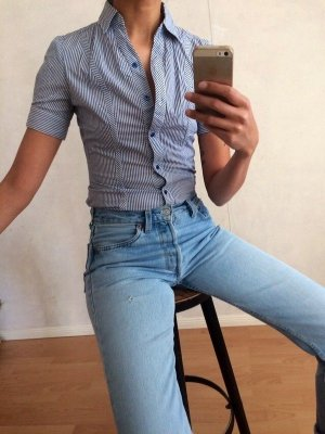 Camicia a maniche corte multicolore Cotone