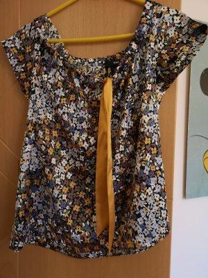 H&M Blusa con lazo blanco-naranja dorado