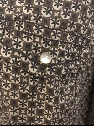 Esprit Hemdblouse donkerbruin-grijs-bruin