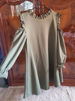 Long Blouse green grey-olive green