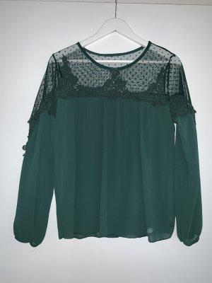 Kanten blouse donkergroen