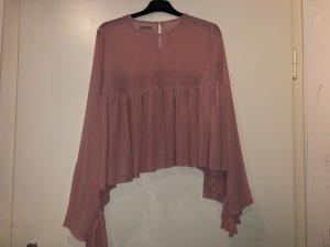 Nakd Blusa ancha color rosa dorado