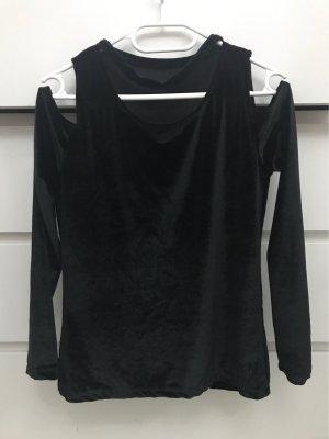 Blusa brillante negro
