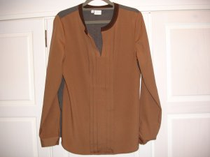 Alba Moda Long Sleeve Blouse brown polyester