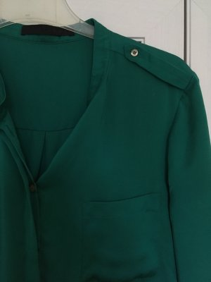 Set Blusa brillante verde bosque