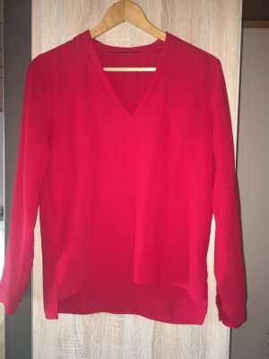 Zara Long Sleeve Blouse red-brick red