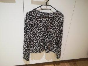 Abercrombie & Fitch Blusa de manga larga blanco-negro