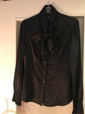 Young Couture by Barbara Schwarzer Blusa collo a cravatta nero