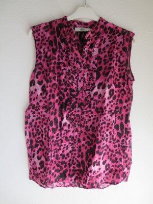 Bluse ärmellos Animal pink-schwarz cotton XS