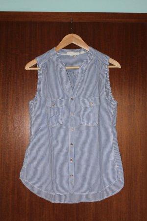 Bluse ärmellos blau-weiß gestreift H&M