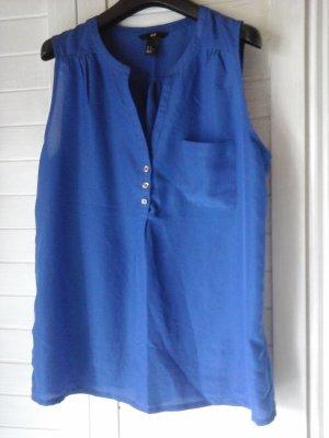 Bluse ärmellos in blau
