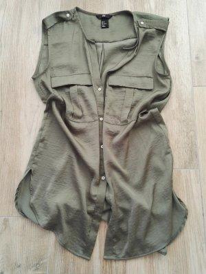 Bluse ärmellos in oliv/khaki / Sommertop / Sommerbluse / SALe - super Preis!