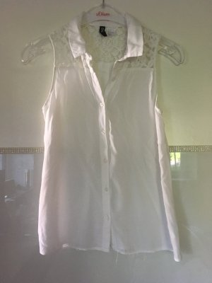 Bluse ärmellos in weiß Größe XS von H&M