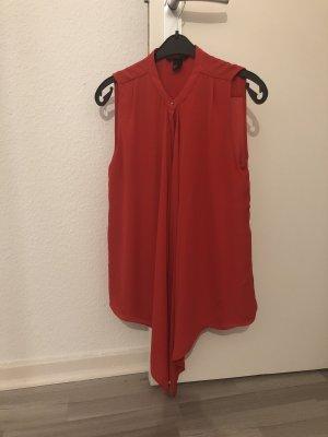Bluse - ärmellos, rot