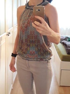 edc Mouwloze blouse veelkleurig