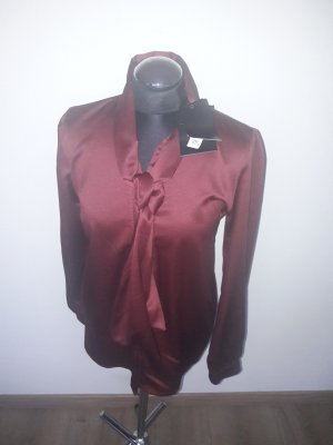 Blusa collo a cravatta bordeaux