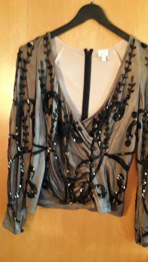 Bluse Alba Moda mit Perlenstickerei