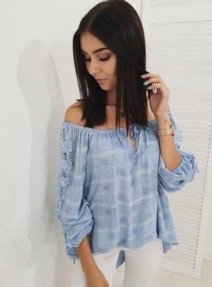 Oversized blouse lichtblauw