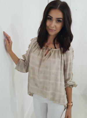 Oversized blouse licht beige-beige