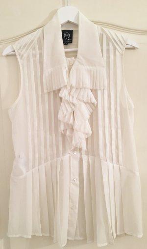 Alexander McQueen Blusa senza maniche bianco sporco Poliestere