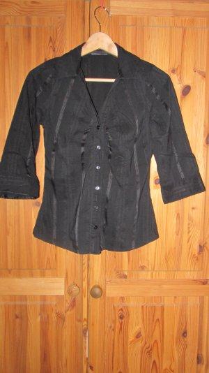 Bluse, ¾ Arm, schwarz mit Knopfleiste von Orsay – Gr. 38, kaum getragen