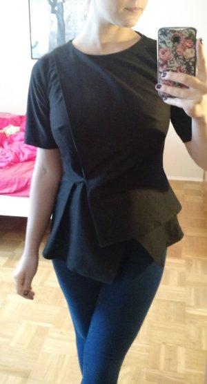 Bluse Asos Gr. 36 S Origami Asymmetrisch schwarz Shirt top blogger oberteil