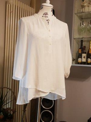 Bluse asymetrisch weiß