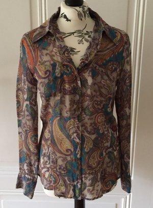 Bluse aus 100% Seide Paisley Muster St. Emile