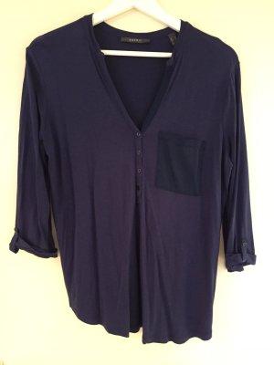 Bluse aus Baumwolle von Esprit - dunkelblau - sehr weich