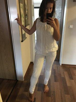 Blouse oversized blanc