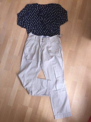 Bluse aus Jersey mit Schluppe