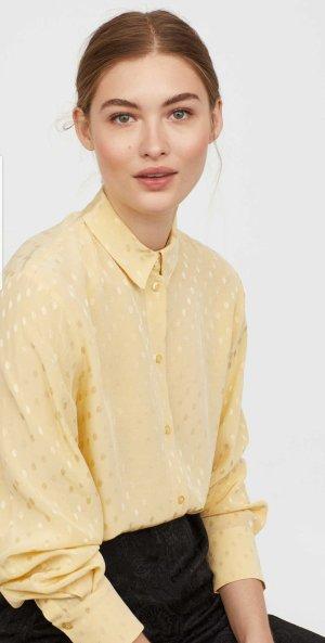 H&M Oversized blouse lichtgeel