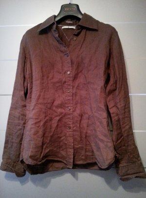 Bluse aus Leinen von Tommy Hilfiger, braun, Größe M / 8