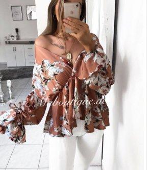 Blusa brillante multicolore