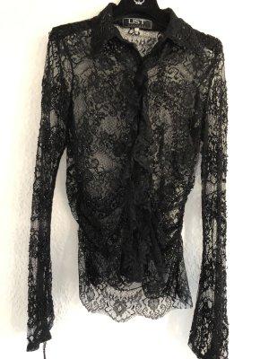 List Lace Blouse black