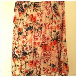 Bluse aus Seide mit Blumenmuster
